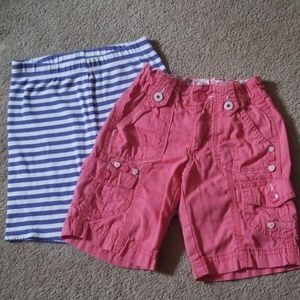 Faded Glory Bottoms - 2 pairs of girls size 6 shorts
